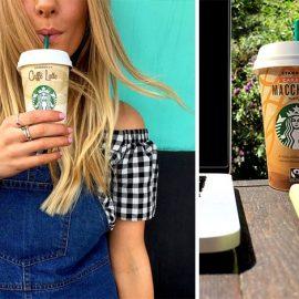 Ποια δεν έχει αγαπήσεις τον Caffè Latte; Το παραδοσιακό latte, ελαφρώς πιο γλυκό, είναι φτιαγμένο με τον υψηλής ποιότητας καφέ Starbucks Espresso Roast // Το κρύο ρόφημα Caramel Macchiato, ένας απολαυστικός συνδυασμός έντονου espresso καφέ με κρεμώδες γάλα και γεύση γλυκιάς καραμέλας