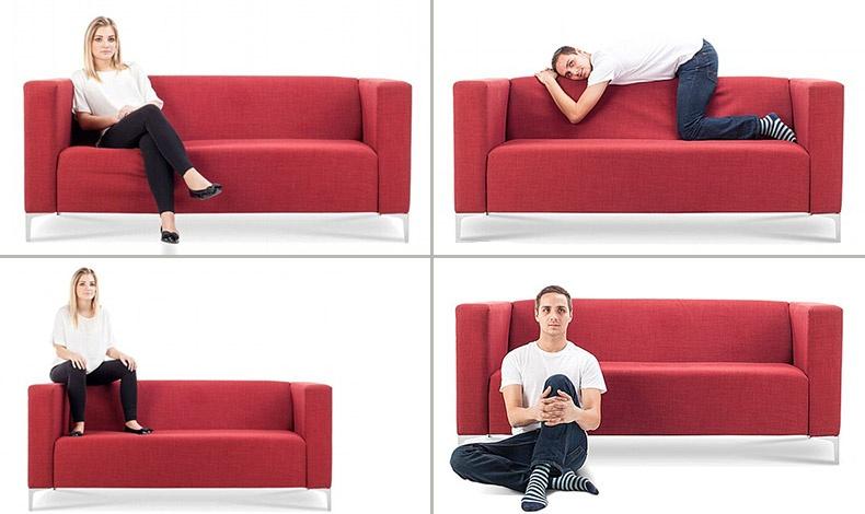 Το άνετο σταυροπόδι: Μία από τις πιο δημοφιλείς στάσεις που δείχνει άνθρωπο ικανοποιημένο με το μέρος που ζει // Σκαρφαλωμένος στη ράχη: Ασυνήθιστη στάση καθίσματος και ανορθόδοξος χαρακτήρας // Ποιος πατάει με τα παπούτσια τον καναπέ; Κάποιος που νιώθει πιο σπουδαίος από τους υπόλοιπους // Βαθύτατα αντικομφορμιστής ο άνθρωπος αυτός επιλέγει το πάτωμα επειδή έχει μάθει να συμπεριφέρεται με τον δικό του τρόπο