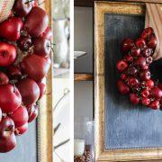 Στεφάνι από μήλα: Φτιάξτε το και υποδεχτείτε το φθινόπωρο!