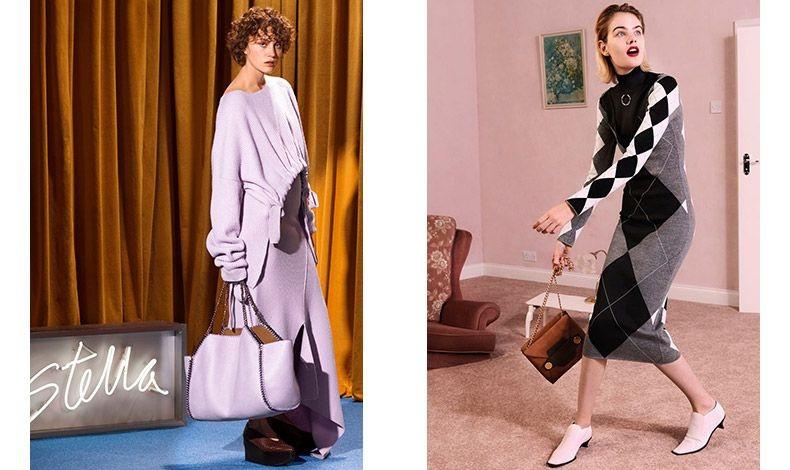 """«Τα ρούχα πρέπει να φοριούνται και όχι να """"φοράνε"""" τη γυναίκα. Τα ρούχα πρέπει να μπορούν να συνδυάζονται για όλες τις ώρες». ( Φωτό: Από τη συλλογή Stella McCartney για το φθινόπωρο 2017-χειμώνας 2018)"""