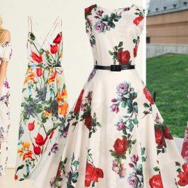 Τα έξωμα μακριά λουλουδάτα φορέματα σας συνοδεύουν από την πόλη έως τις διακοπές? // Μακρύ φόρεμα με τιράντες, Alice& OIivia // Στιλ 50s για το λευκό φόρεμα με τα τριαντάφυλλα, Beobab