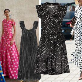 Εντυπωσιακά χρώματα από την καλοκαιρινή συλλογή, Carolina Herrera // Μαύρο-λευκό με φαρδιές τιράντες, Alexa Chung // Ασπρόμαυρο σε γραμμή φάκελος, Josh // Φορέστε ένα μακρύ πουά φόρεμα με ψηλοτάκουνα πέδιλα για βραδινή εμφάνιση