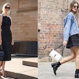 Το μαύρο από πάνω ως κάτω μπορεί να φορεθεί και το καλοκαίρι // Συνδυάστε τα μαύρα μποτάκια σας με μία μίνι φούστα ή σορτς
