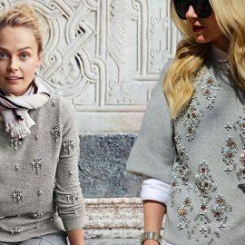 Η πιο πολυτελής εκδοχή του, στολισμένο με στρας ή κρύσταλλα συνδυάζεται με φούστα ή ίσιο παντελόνι