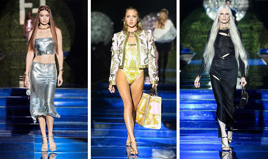 Η Gigi Hadid με αστραφτερή εμφάνιση // Το κλασικό στιλ του οίκου Versace δημιουργεί χρυσές λάμψεις // Η Κirsten Μc Μenamy περπατά ξανά… στην πασαρέλα