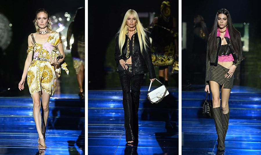 Η «μέδουσα» του Versace συναντά το μονόγραμμα Fendi και οι αλυσίδες και η δαντέλα ενώνονται με το δέρμα…