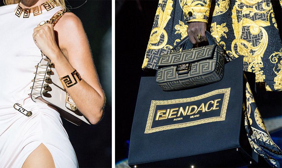 Μαίανδροι και παραμάνες Versace, μίνιμαλ γραμμές και λογότυπα Fendi για μία συλλογή που σίγουρα θα αφήσει το στίγμα της στη μόδα: Fendance!