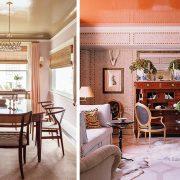 Το χρώμα στο ταβάνι χαρίζει χαρακτήρα, π.χ. ένα χρυσαφί δίνει πολυτέλεια, ένα δυνατό χρώμα τραβά τα βλέμματα