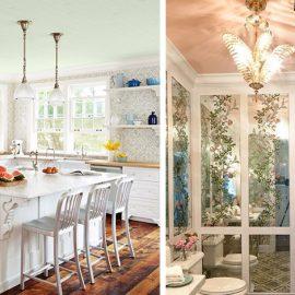 Ένα παστέλ χρώμα στην κουζίνα ή στο μπάνιο δημιουργεί μία χαλαρωτική ατμόσφαιρα