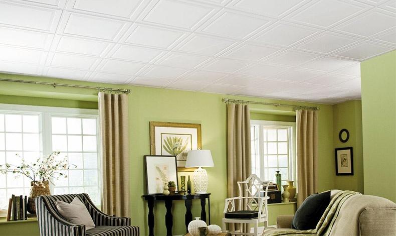 Τα πλακάκια στο ταβάνι μπορούν να δώσουν ιδιαίτερη λάμψη