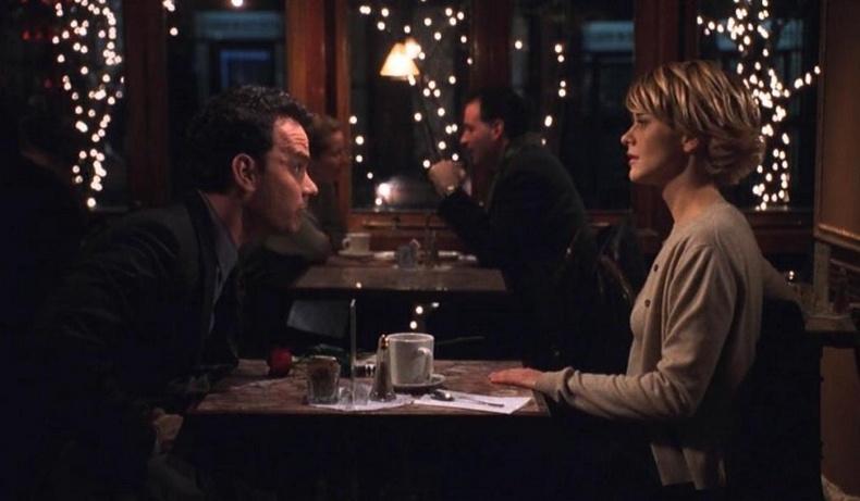 Τομ Χανκς και Μεγκ Ράιαν στο Cafe Lalo στη Νέα Υόρκη για χάρη της ταινίας «Έχετε μήνυμα στον υπολογιστή σας»