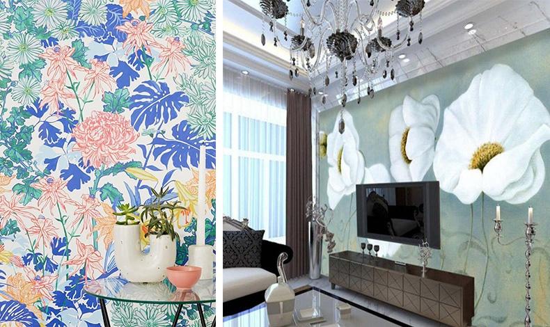 Tα έντονα μοτίβα με λουλούδια είναι μία από τις πιο ισχυρές τάσεις και είναι κατάλληλα από το σαλόνι μέχρι την κρεβατοκάμαρα