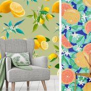 Ζωηρά χρώματα και φρούτα δίνουν μία αίσθηση δροσιάς και φρεσκάδας. Η λύση της ταπετσαρίας είναι ιδανική!