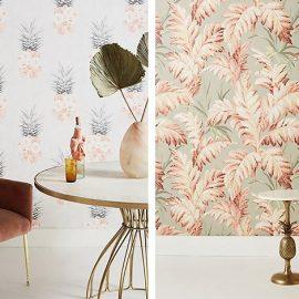 Παστέλ φρούτα ή λουλούδια γεμίζουν με απαλά χρώματα αλλά εξίσου έντονα σχέδια τους τοίχους μας?