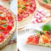 Τάρτα με πολύχρωμα ντοματίνια και κατσικίσιο τυρί: Η τέλεια καλοκαιρινή ιδέα