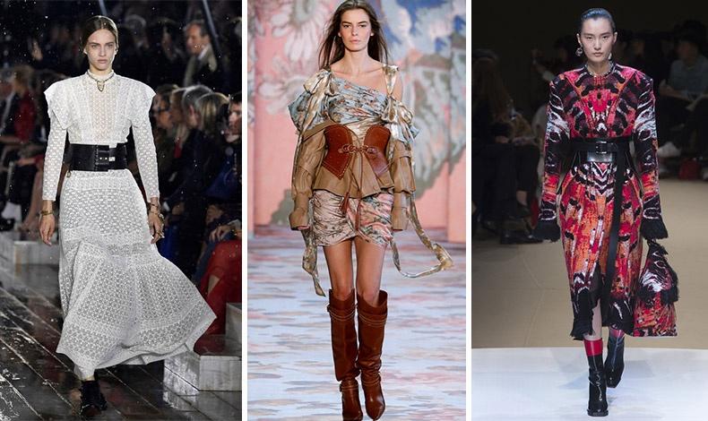 Φαρδιές ζώνες με ιδιαίτερα δεσίματα κυριαρχούν τη φετινή σεζόν! Dior // Zimmerman // Alexander McQueen