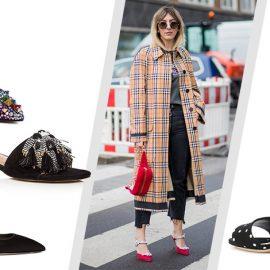 Ένας τρόπος για να τραβήξετε την προσοχή στα πόδια σας είναι τα διακοσμημένα παπούτσια! // Ψηλοτάκουνα με πολύχρωμες πέτρες, Christian Louboutin // Ίσια σαν σαγιονάρα με φτερά, Rebecca Minkoff // Kitten τακούνι και πέρλες, Miu Miu // Τετράγωνο τακούνι σαν τραπουλόχαρτο, Dolce&Gabbana