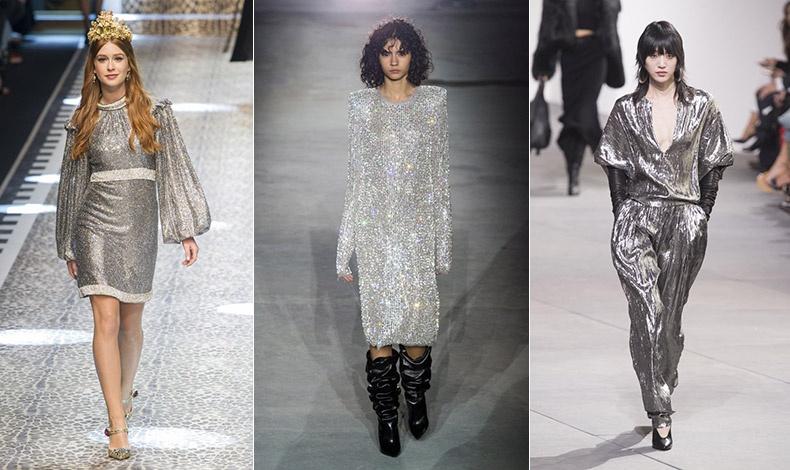 Έντονη δόση μεταλλικών αποχρώσεων, κυρίως ασημί! Dolce & Gabbana // Saint Laurent // Michael Kors