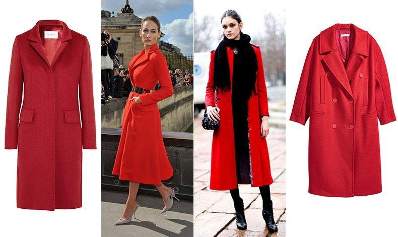 Ένα κόκκινο παλτό σίγουρα δεν θα περάσει ποτέ απαρατήρητο! Κομψό κόκκινο παλτό, Max Mara // Ένα κόκκινο παλτό είναι και ευκολοφόρετο // Συνδυάζεται τέλεια με μαύρα // Κόκκινο της φωτιάς, Η&Μ