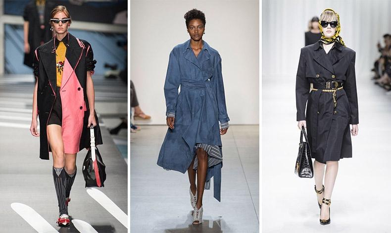 Η γκαμπαρντίνα σε κεντρικό ρόλο: Prada // Jonathan Simkhai // Versace