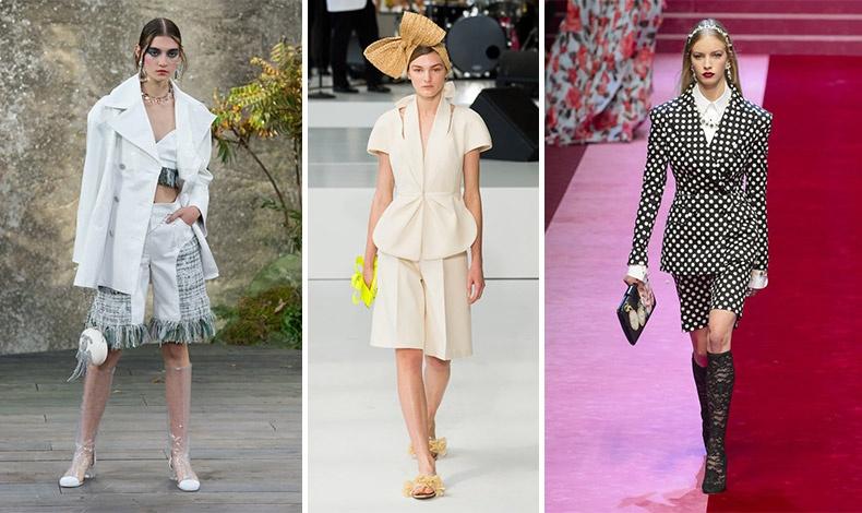 Κοντά παντελονάκια: Chanel // Delpozo // Dolce&Gabbana