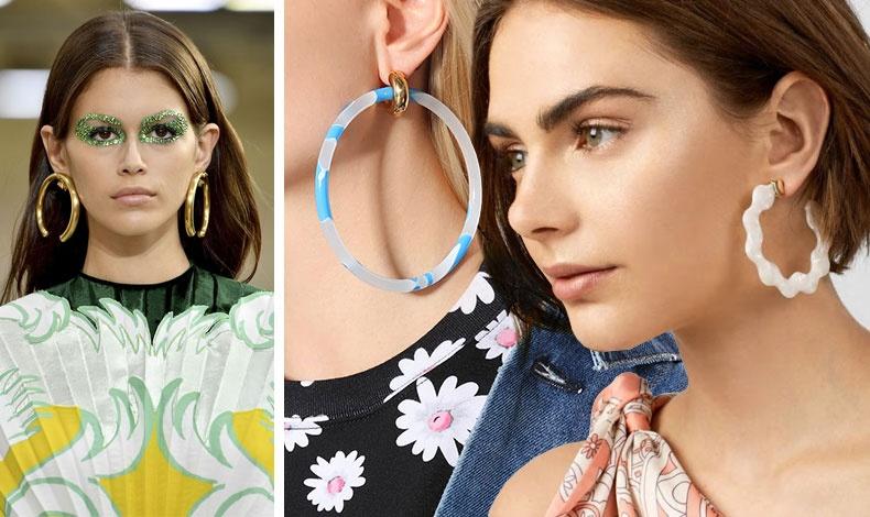 Οι μεγάλοι κρίκοι είναι ένα από τα βασικά κοσμήματα για το 2019! Από την επίδειξη Valentino άνοιξη 2019 // Σε γαλάζιο και διάφανο, Balenciaga // Κρίκοι σε λευκό για κάθε ημέρα