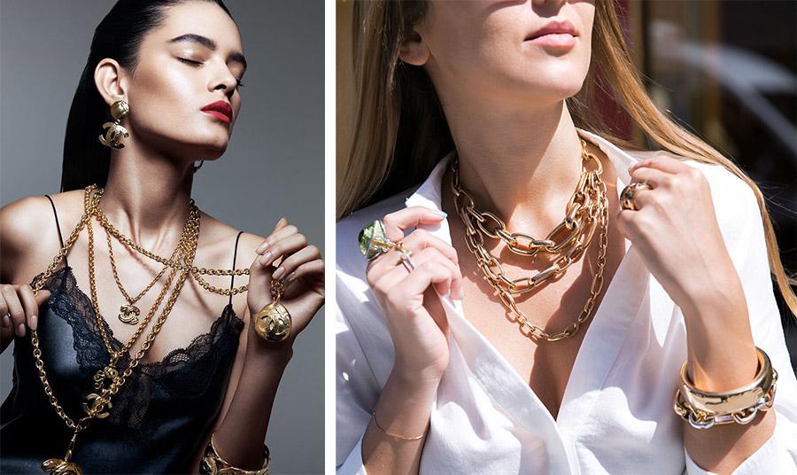 Οι χρυσές αλυσίδες είναι σύμβολο άρρηκτου δεσμού και αγάπης. Τα τελευταία χρόνια φοριούνται είτε πολλές μαζί σε διαφορετικά μήκη, είτε μία εντυπωσιακή κοντά στον λαιμό