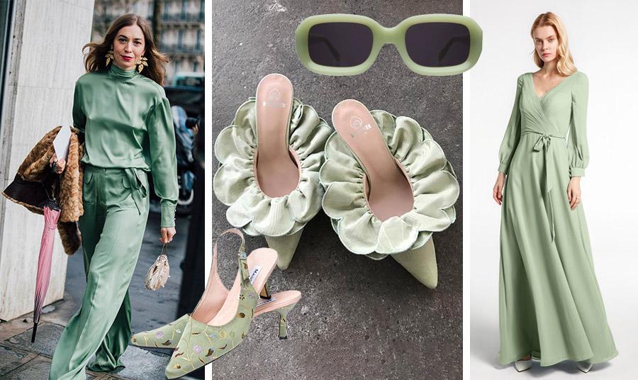Μονοχρωμία  είναι της μόδας! // Γυαλιά από βινύλ, Ιllesteva // Mules Brother Vellies// Ξώφτερνα με κεντημένα λουλουδάκια, Mandarina shoes // Μακρύ φόρεμα, Maxine