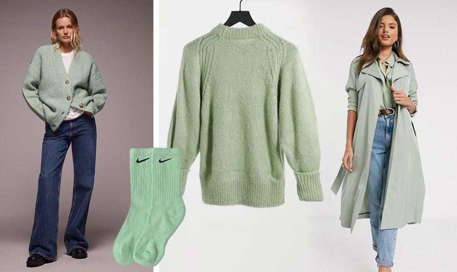 Συνδυάστε με το τζιν σας μία ζακέτα στην εν λόγω απόχρωση, Zara // Πουλόβερ, Asos // Καλτσάκια, Nike // Φορέστε μία γκαμπαρντίνα και ασορτί πουκάμισο στην απόχρωση του φασκόμηλου με το τζιν σας