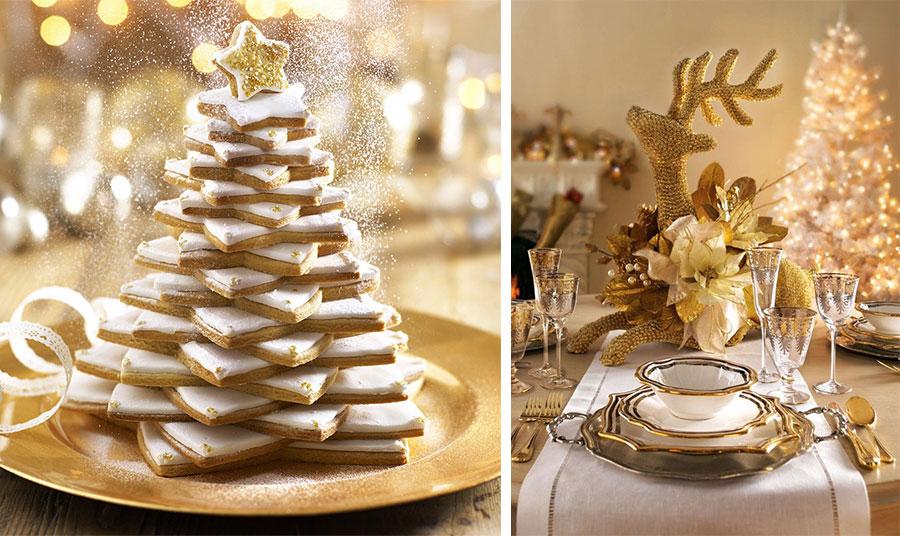 Πιθανόν δεν θα σας κάνει καρδιά να χαλάσετε το υπέροχο δεντράκι από μπισκότα, αλλά αποκλείεται να μην ενδώσετε τελικά στον πειρασμό! // Στο φουλ του χρυσού! Η απόλυτη λάμψη των γιορτών στο τραπέζι σας!