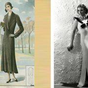 Στη δεκαετία του '30 μετά τον Α' Παγκόσμιο Πόλεμο και τις στερήσεις, το ανδρικό λουκ γίνεται αναγκαστικά της μόδας και οι γυναίκες δεν θέλουν να φαίνονται αδύνατες // Η Βίβιαν Λι με τουαλέτα και σχετικές καμπύλες αποτελεί πρότυπο αυτή την εποχή