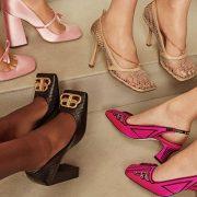 Η νέα (παλιά) φόρμα γίνεται η τελευταία λέξη της μόδας στα πόδια μας: Ροζ σατέν, Wandler // διχτυωτά χρυσαφί, By Far // Φούξια, Fendi // Δερμάτινα με αγκράφα, Bottega Veneta