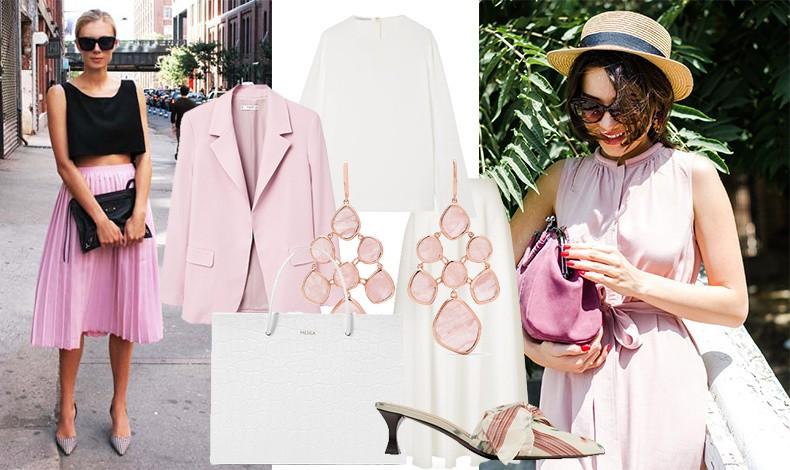 Τα παστέλ είναι μόδα! Και ιδιαίτερα το παλ ροζ συνδυασμένο με λευκά είναι ό,τι πιο κομψό και ανοιξιάτικο μπορείτε να επιλέξετε! Η αντίθεση με το μαύρο είναι επίσης μία καλή επιλογή
