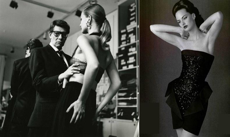Ο Yves Saint Laurent είχε πει: ?Μια γυναίκα σε μαύρο φόρεμα είναι σαν μια μολυβιά... // Φόρεμα του οίκου YSL από το 1995