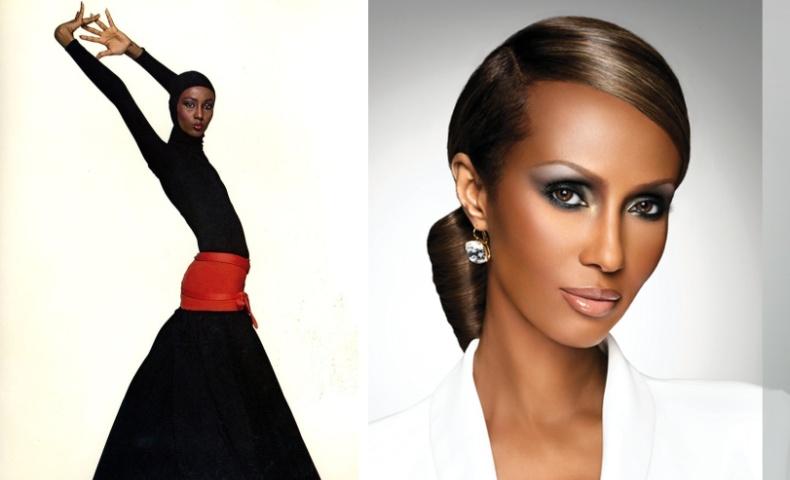 """Η """"μαύρη γαζέλα"""" των '70s, Iman σε φωτογράφηση της Vogue // Ένα από τα θαυμάσια πορτρέτα της"""