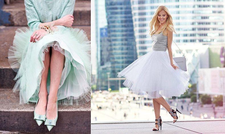 Παστέλ χρώματα στην ίδια χρωματική γκάμα είναι μία τέλεια επιλογή // Οι ουδέτερες αποχρώσεις στο υπόλοιπο ντύσιμο βοηθούν να παραμείνει η τούλινη φούστα σας στο επίκεντρο του ενδιαφέροντος