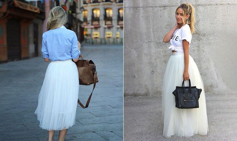 Συνδυάστε την τούλινη φούστα σας με ένα τζιν πουκάμισο ή με ένα Τ-shirt για έξτρα ενδιαφέρουσα εμφάνιση