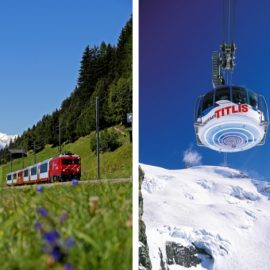 Παγετώνες αλλά και καταπράσινα τοπία που μπορείτε να δείτε με τα διάσημα ελβετικά τρένα