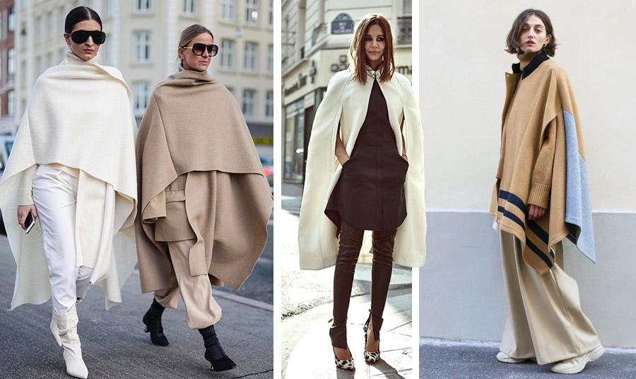 Φορέστε τις μάλλινες κάπες που τυλίγουν ζεστά το σώμα με φαρδιά ή στενά παντελόνια και μπότες, γόβες ή τα αθλητικά σας όλη την ημέρα