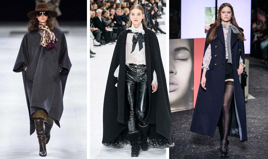 Εκπληκτικές μαύρες κάπες χειμώνας 2021: Celine // Chanel // Miu Miu