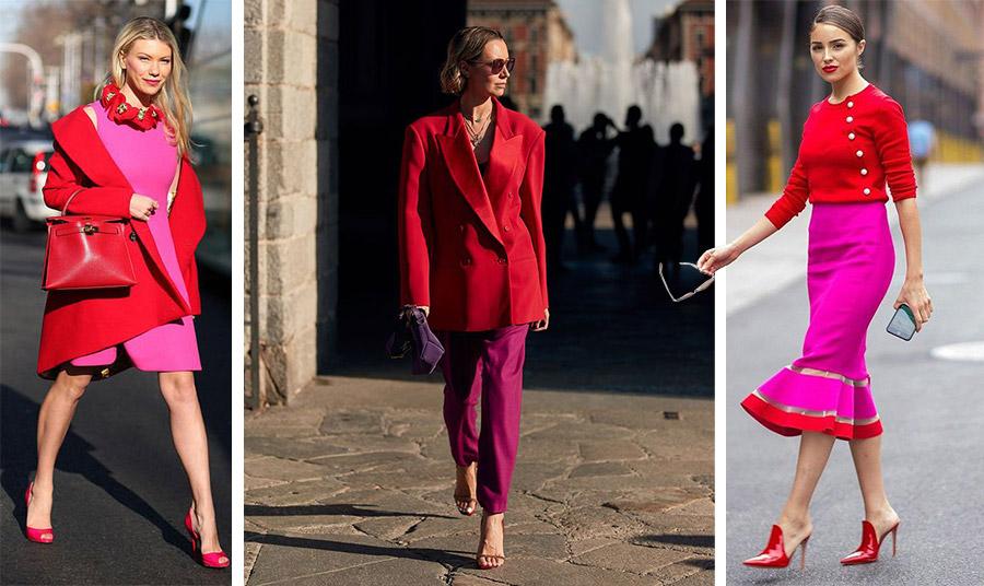 Το φούξια με κόκκινο ή μπορντό είναι σίγουρα ο πιο μοντέρνος (αλλά και τολμηρός) συνδυασμός