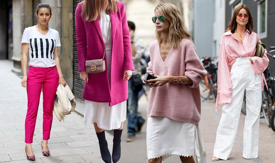 Οι αποχρώσεις του ροζ με το λευκό είναι κλασικός συνδυασμός είτε για πιο casual είτε για πιο επίσημες εμφανίσεις