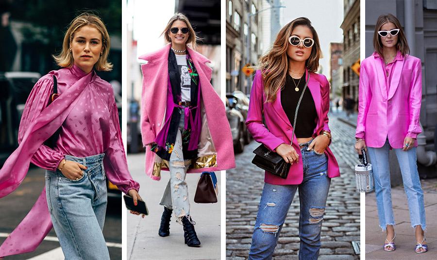 Συνδυάστε τις αποχρώσεις του ροζ με το αγαπημένο σας τζιν και δημιουργήστε πολύ διαφορετικά ανοιξιάτικα λουκ!