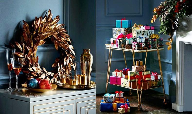 Ποιος είπε ότι ένα στεφάνι είναι μόνο για την πόρτα; Διακοσμήστε έναν μπουφέ ή μία κονσόλα και προσθέστε κεριά και άλλα διακοσμητικά // Γιατί να βάλετε τα δώρα κάτω από το δέντρο; Στολίστε τα σε μία σκαλιέρα ή διπλό τραπεζάκι!