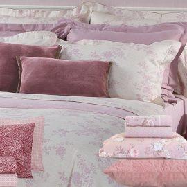 Λουλούδια, ρετρό διάθεση και ποιος? να σηκωθεί από το αγαπημένο του κρεβάτι; Σε παστέλ μοβ αποχρώσεις η συλλογή Flawless // Εξωτικά γεωμετρικά μοτίβα στο χρώμα του κόκκινου κρασιού, συλλογή Simba // Σε παστέλ ροζ λουλούδια σεντόνια και μαξιλαροθήκες, Sylva // Μαξιλάρια από βελούδο σε διάφορες διαστάσεις και χρώματα από τις συλλογές NEF-NEF Homeware