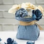 Λουλούδια από τζιν: Πώς θα τα φτιάξετε μόνες σας