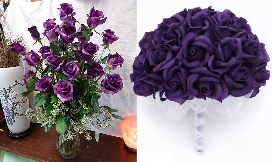 Μόβ τριαντάφυλλα