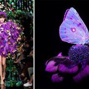 Το Ultra Violet δημιουργεί μοναδικούς και πρωτότυπους χρωματικούς συνδυασμούς και φοριέται με σχεδόν όλα τα χρώματα του φάσματος // Από την πασαρέλα άνοιξη-καλοκαίρι 2018, Moschino