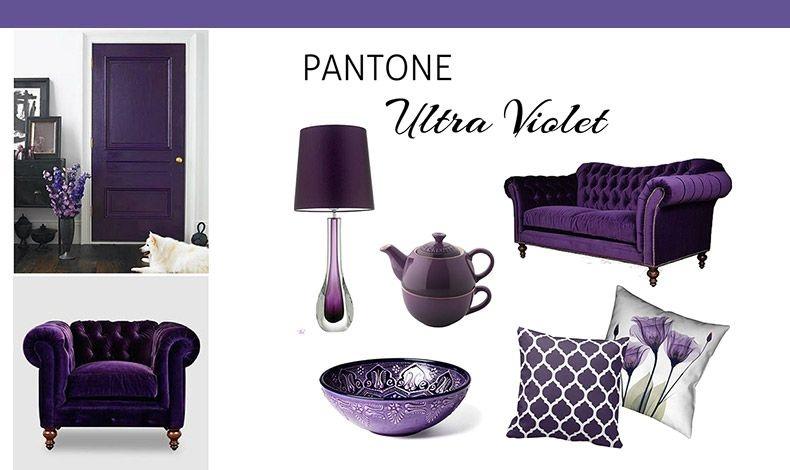 """Χαρίζοντας λάμψη και μια """"πικάντικη"""" νότα, το Ultra Violet κυριαρχεί σε κάθε χώρο και κάθε στιλ: είτε πρόκειται για κλασικό ύφος είτε για τολμηρή άποψη είτε για παραδοσιακό χώρο"""