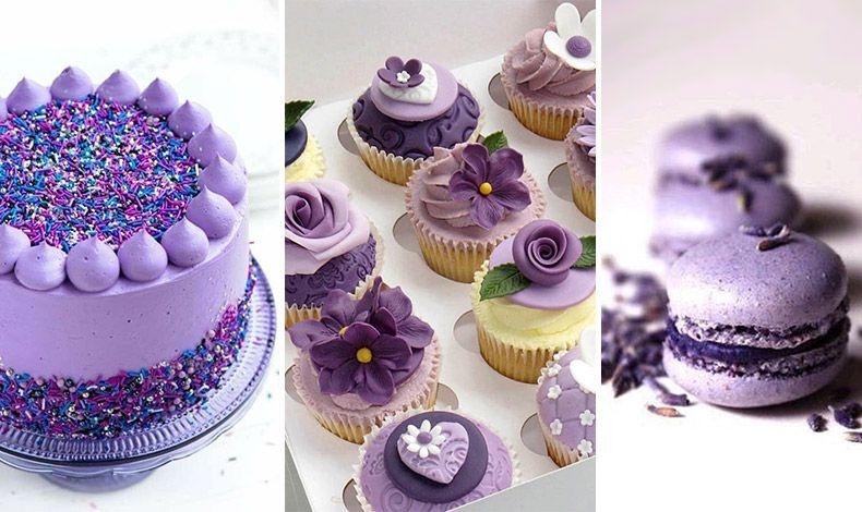 Το Ultra Violet κατακτά και τη γεύση σε τούρτες, σε cupcakes και σε μακαρόν!